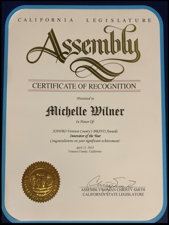 Assembly Cert of Recognition